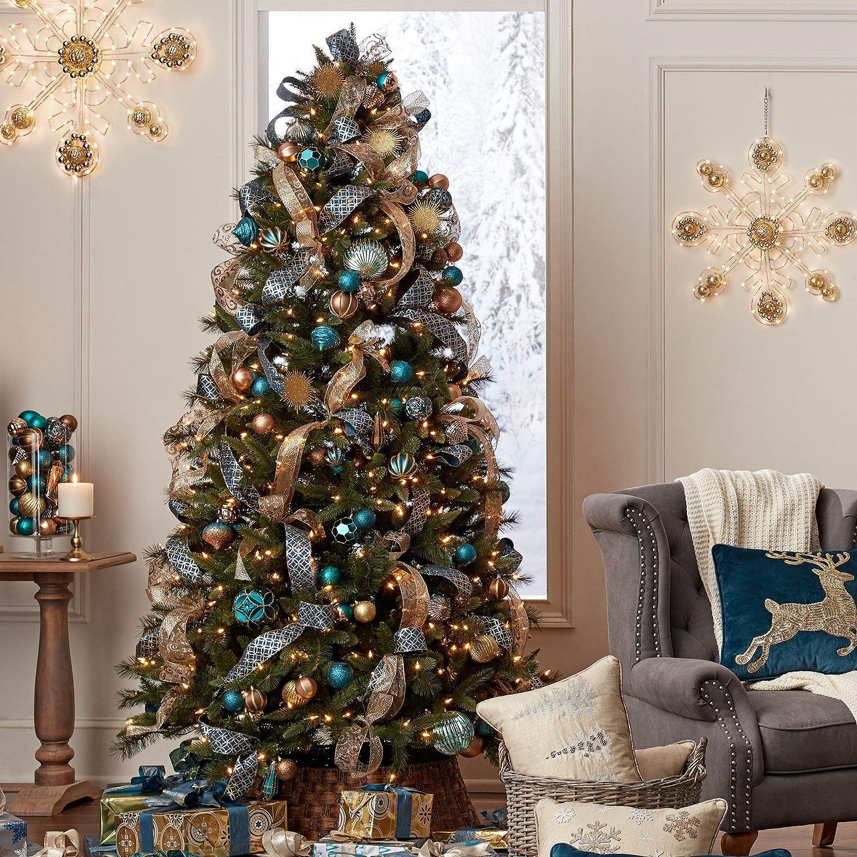 Member S Mark 7 5 Grand Spruce Christmas Tree Sam S Club Blue Christmas Tree Decorations Blue Christmas Tree Christmas Tree Colour Scheme