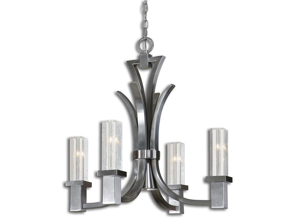 Lamps and lighting uttermost glacio 4 1 light chandelier 21250 the hanley collection spokane wa