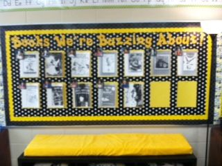 Yellow Classroom Decor : Classroom library idea? print book covers in black and white