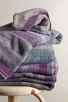 Purple striped towels.