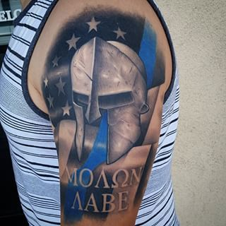 sparta, molon labe - Google Search | Molon labe tattoo, Tattoo designs men, Tattoos