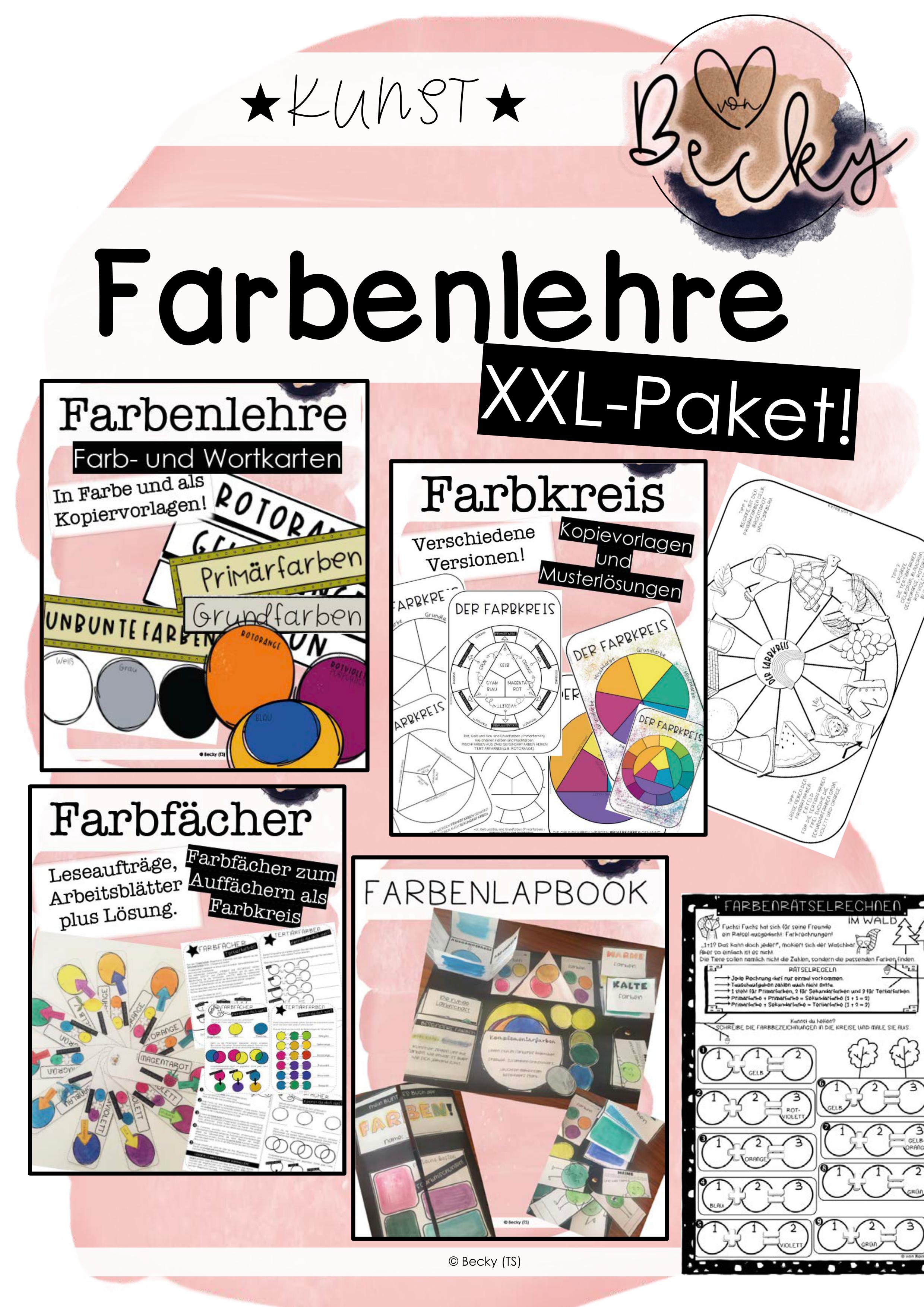 Farbenlehre Paket Kunst Unterrichtsmaterial Im Fach Kunst Farben Lehre Farbenlehre Kunst Unterrichten