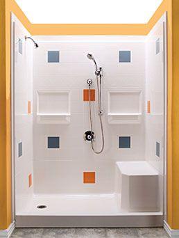 Best Bath modular shower system with composite fibreglass walls ...