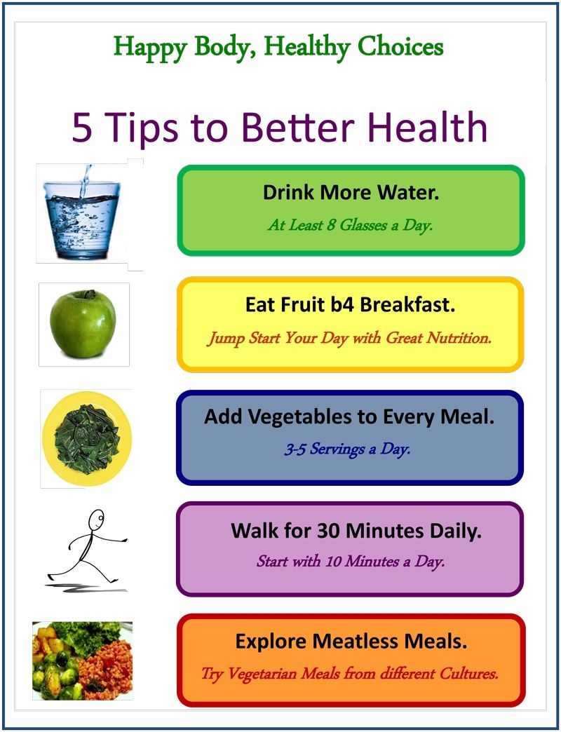 5 Tips For Better Health Good Health Tips Health Drink Health And Wellness