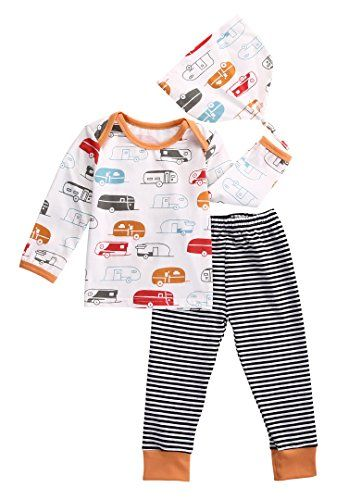 Plaid Pants Outfits Set KUKEONON Toddler Baby 2Pcs Summer Short Sleeve Tee