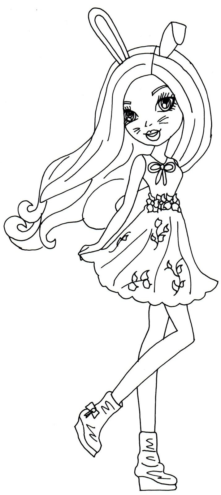 Harelow Ever After High Coloring Page Jpg 714 1600 Coloring