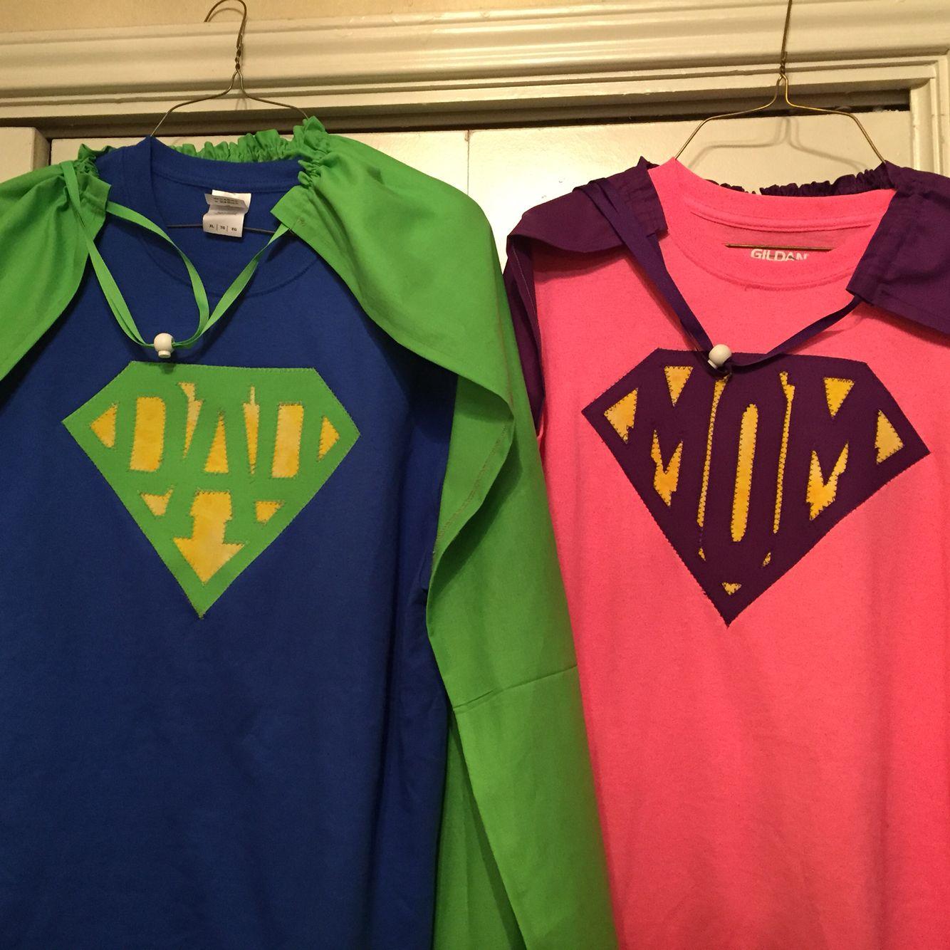 Super Mom Super Dad Costumes
