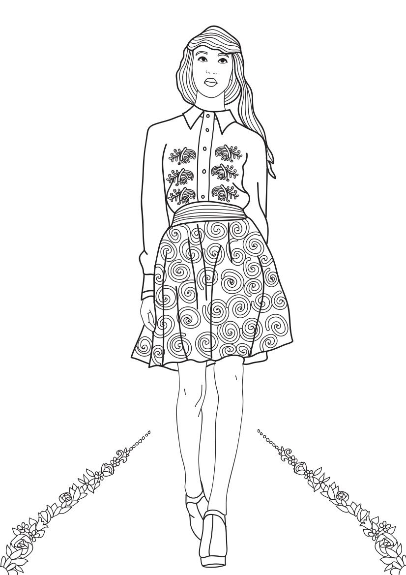 Fashion Show Coloring Pages for Adults Adult coloring Houston