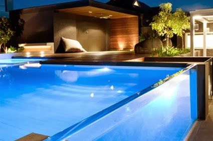 Swimming pools with glass wall | Garden Park | Above Ground Pools ...