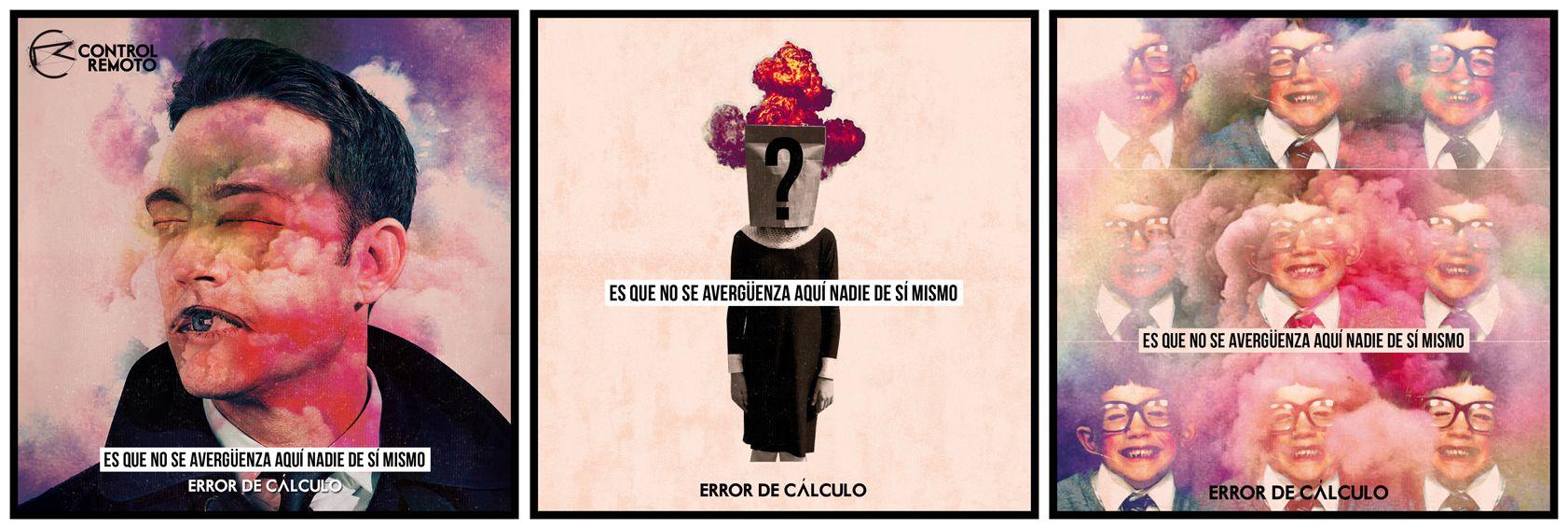 """3 opciones de portada para single """"Error de cálculo"""" CONTROL REMOTO"""