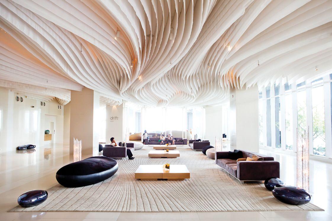 Highly innovative modern lounge interior design in hilton for Design 8 hotel soest