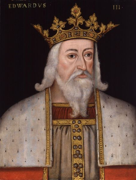Edward III Plantagenet, King of England (1312-1377). Painting from the National Portrait Gallery, London
