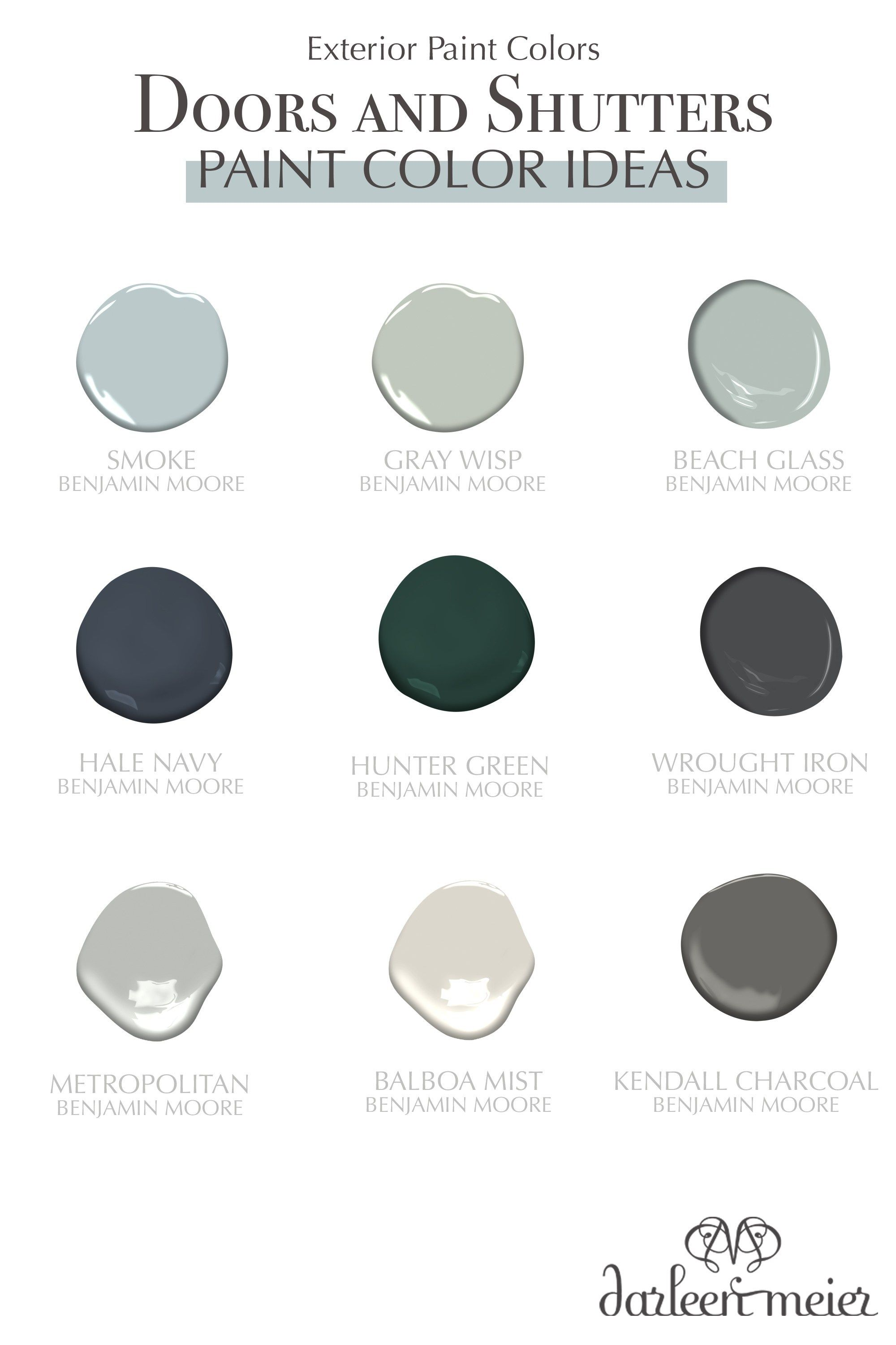 The Best Blue And Gray Exterior Paint Colors To Paint Doors