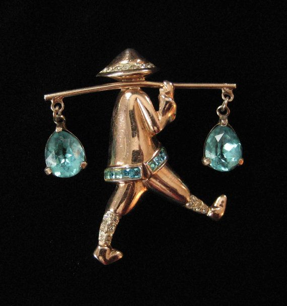 Corocraft Sterling Water Carrier Brooch Alfred Katz by Elsewind, $135.00