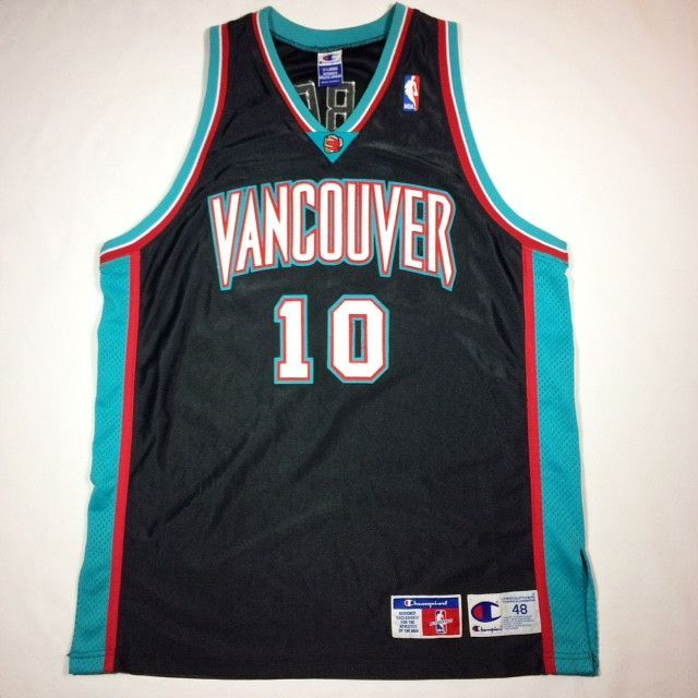35de9c115a6 Mike Bibby Vancouver Grizzlies Authentic Champion Jersey
