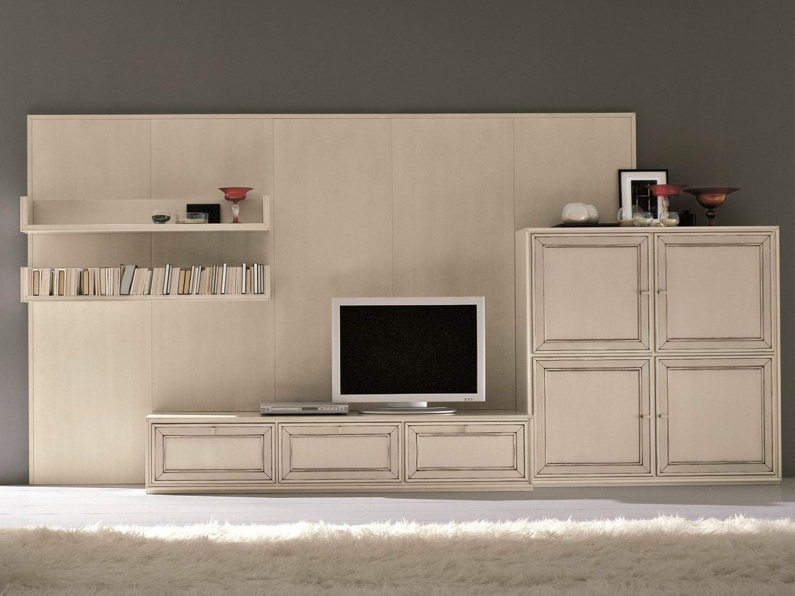 parete attrezzata componibile con porta tv parete attrezzata shabby chic collezione opera by. Black Bedroom Furniture Sets. Home Design Ideas