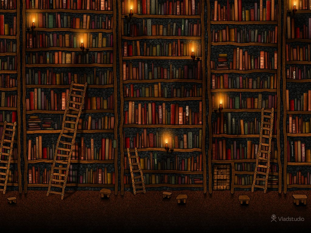 fond d'ecran gratuit bibliotheque