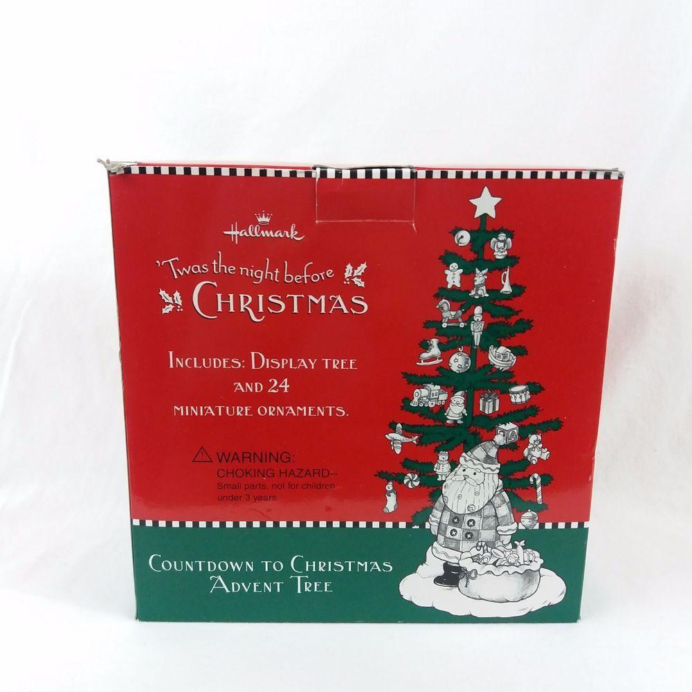 Hallmark Twas The Night Before Christmas Advent Calendar Tree W Mini Ornaments Christmas Advent Calendar Christmas Advent Christmas Tree Advent Calendar