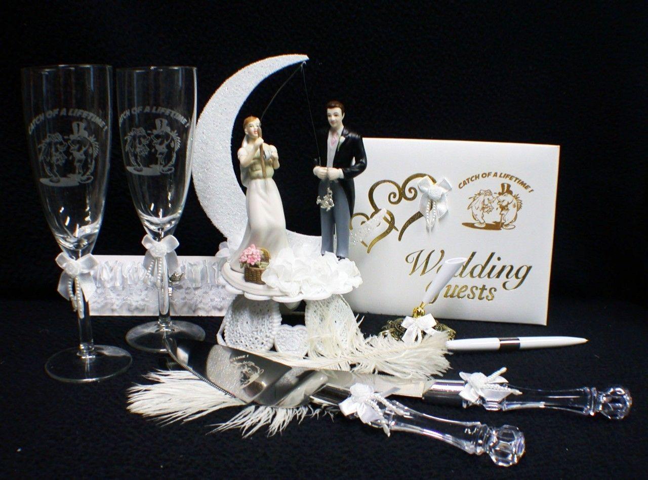 Fish fishing wedding cake topper fishing wedding cake