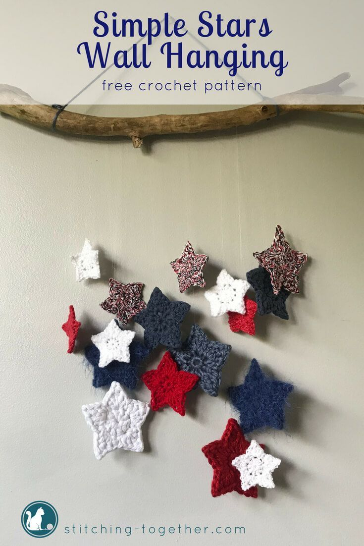 Crochet Star Wall Hanging | CRAFTS - Crochet & Knitting both Paid ...