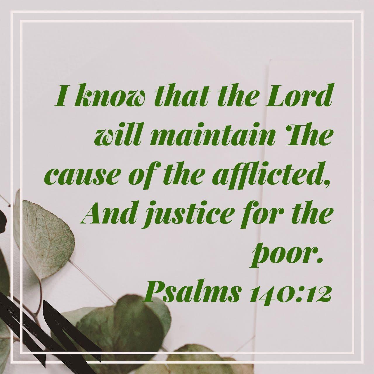 Psalm 140 12