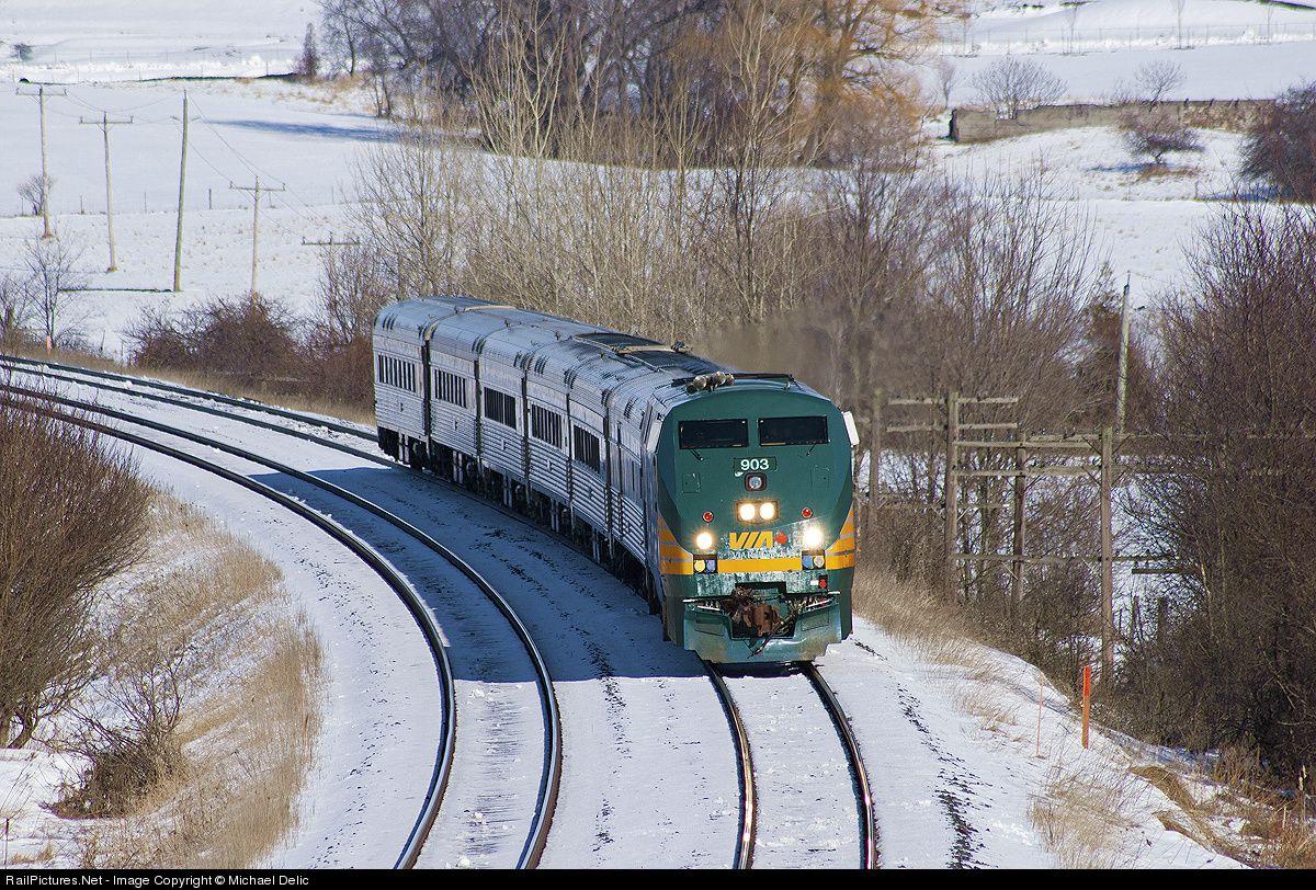 RailPictures.Net Photo: VIA 903 VIA Rail GE P42DC at Newcastle, Ontario, Canada by Michael Delic