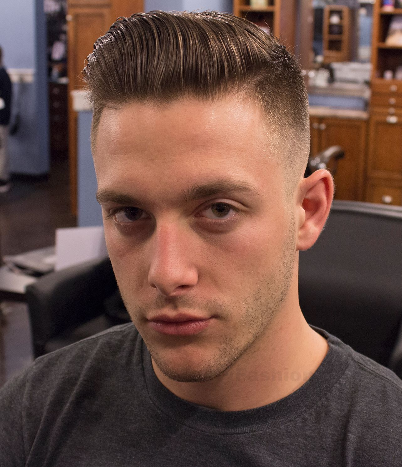 pompadour fade haircut style ���������� hair styles