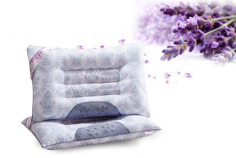 almohada de trigo y lavanda