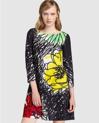 3ad8425a0 Vestido corto de mujer Boutique Moschino con estampado de flores ...