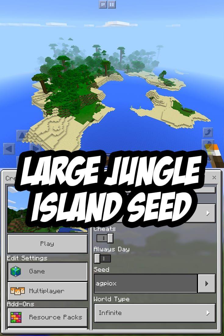 Minecraft Pocket Edition Large Jungle Island Seed Agpiox Minecraft Minecraft Tips Minecraft Seed