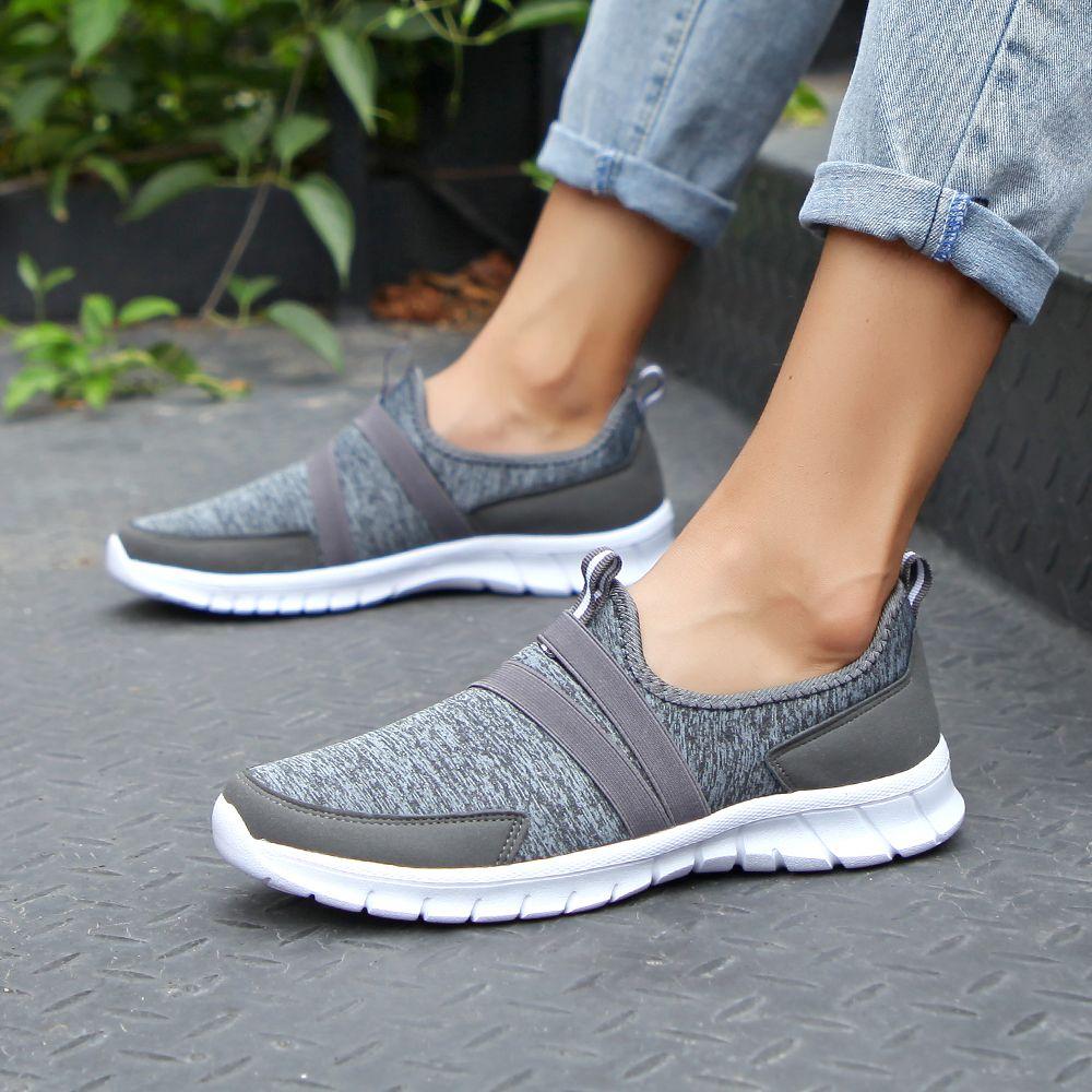 de554b3614 2019 Spring women sneakers shoes women Breathable Mesh shoes ballet ...