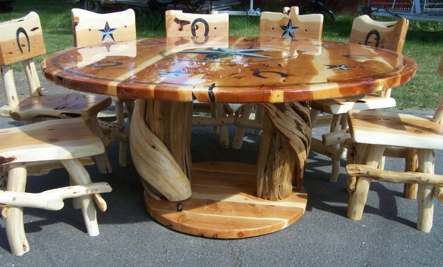 Daves Custom Juniper Cedar And Blue Pine Log Furniture Dining Tables Layaway Available Guarantee Pub Table Or