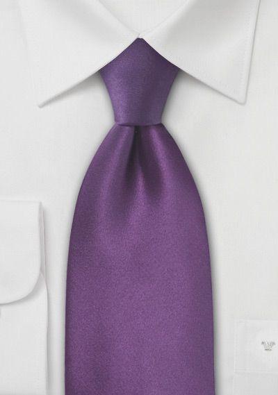 Solid Silk Tie in Violet Purple