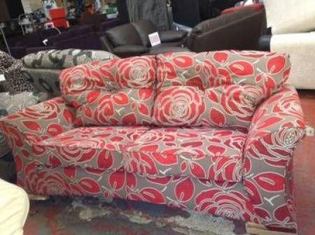 Vivastreet Buoyant 3+2 Red and Grey Sofa | grey sofas | Pinterest ...