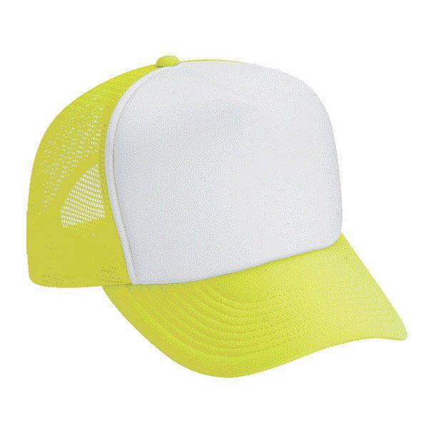 a6083e5bac9 1 Dozen (12) Neon Yellow and White Blank Foam - Mesh -Trucker Hats -  Adjustable  Cobra  Trucker