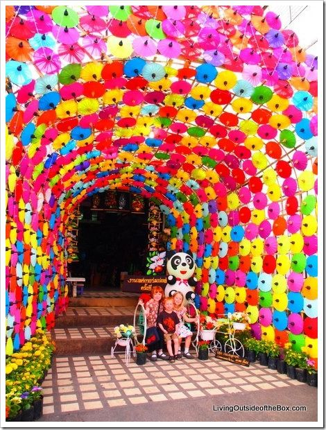 Bo Sang Umbrella Festival near Chiang Mai, Thailand