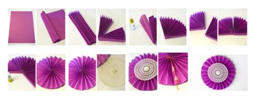 Abanicos de papel para decorar baby shower manualidades - Abanicos para decorar ...