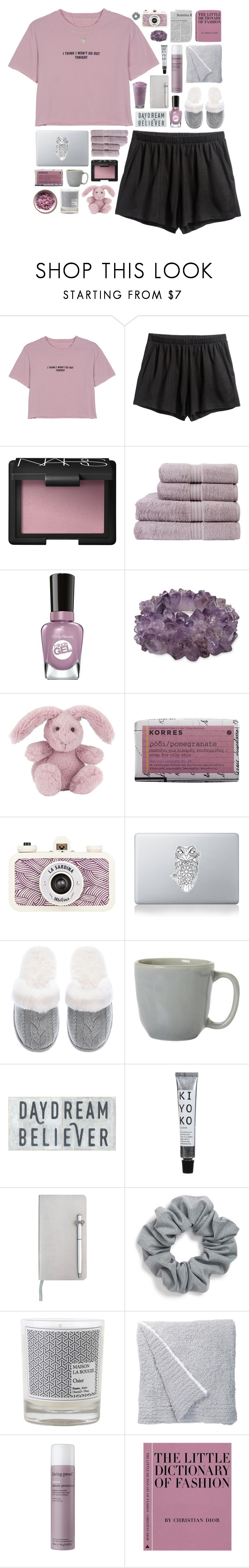 """""""Night Owl"""" by vip-beauty ❤ liked on Polyvore featuring WithChic, NARS Cosmetics, Christy, Sally Hansen, Mapleton Drive, Jellycat, Korres, Vinyl Revolution, Victoria's Secret and Juliska"""