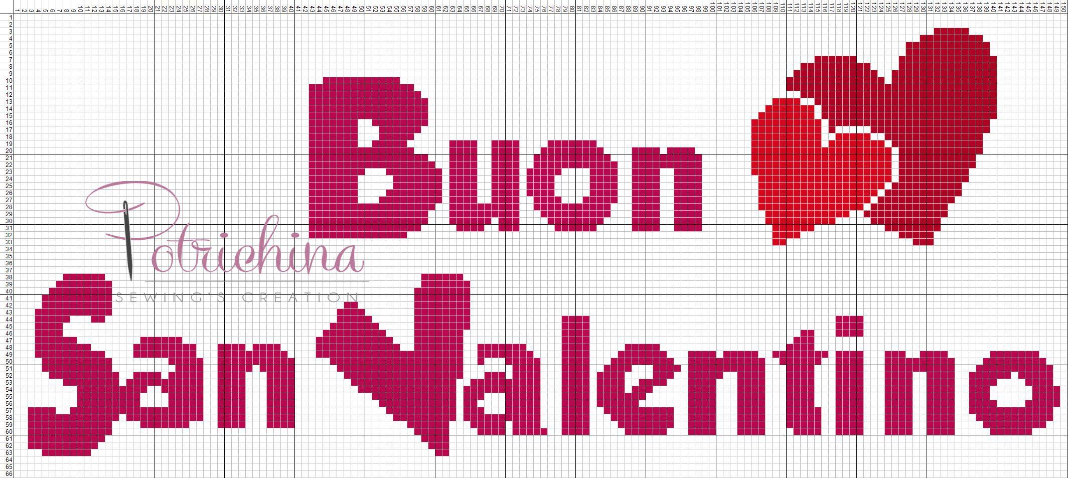 Buon San Valentino Schema Punto Croce Love Cross Stitch Patterns
