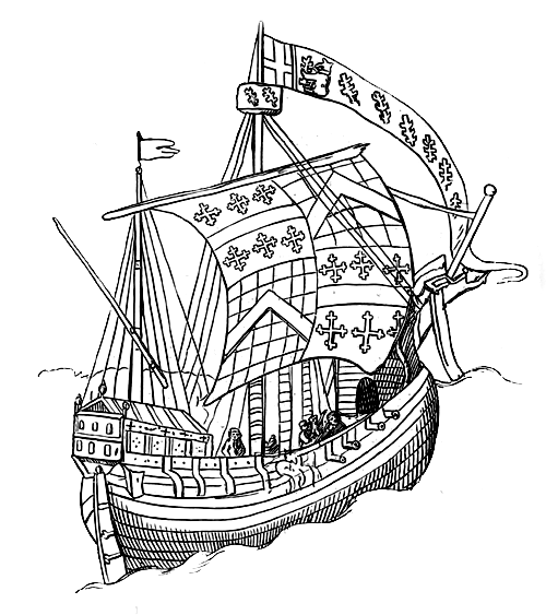diagram of gunwale and bulwark on a wooden ship