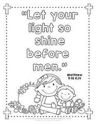 Image result for let your light shine coloring page