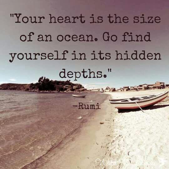 Take deep breaths and swim deep