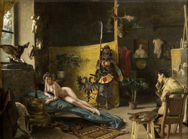 Francesco beda the artists model 1882 art mixture pinterest