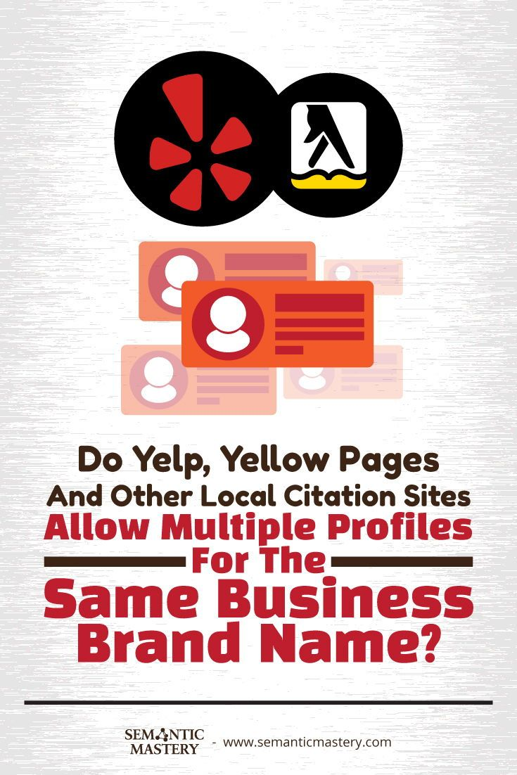 Do yelp yellow pages and other local citation sites allow