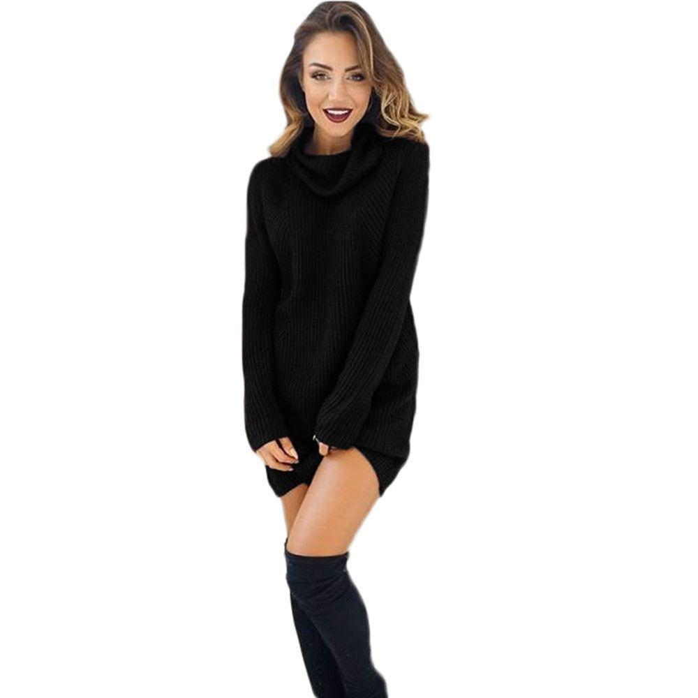 New long sweater womens autumn winter casual long sleeve jumper