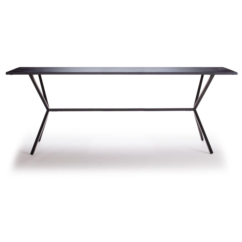 Loft spisebord 200x92 cm, svart i gruppen Møbler / Bord / Spisebord hos ROOM21.no (Loft1)