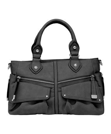 This Black Lindsey Satchel by Jessica Simpson Collection is perfect! #zulilyfinds