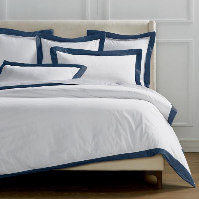 Resort Border Frame Duvet Cover Frontgate Master Bedroom Accents Duvet Covers Bedroom Styles