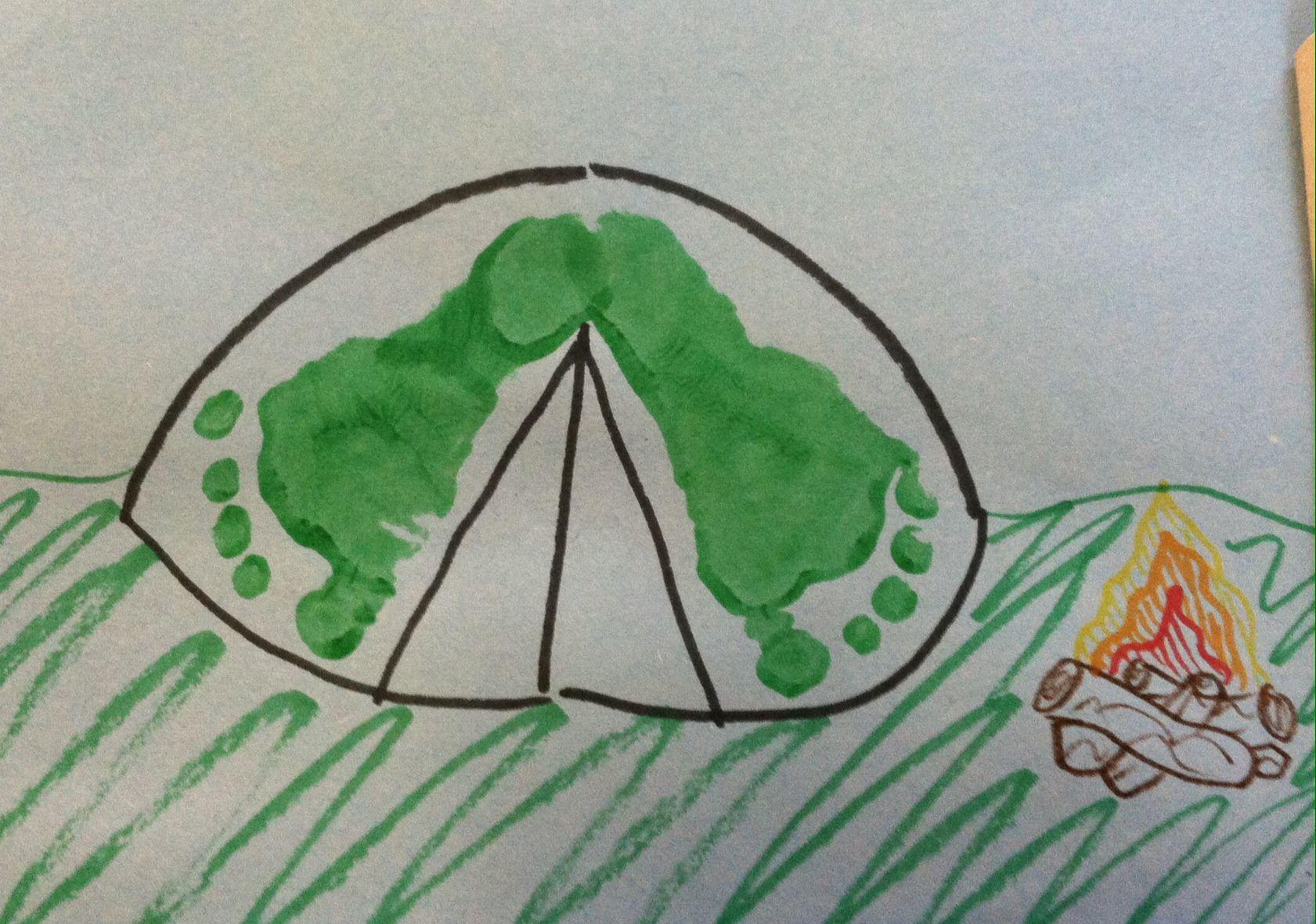 Foot-Print Camping Tent | Footprint and Handprint Art | Pinterest ...