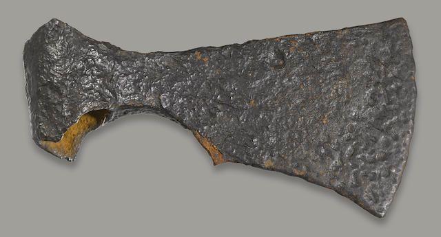 A RARE VIKING AXE HEAD circa 900 AD